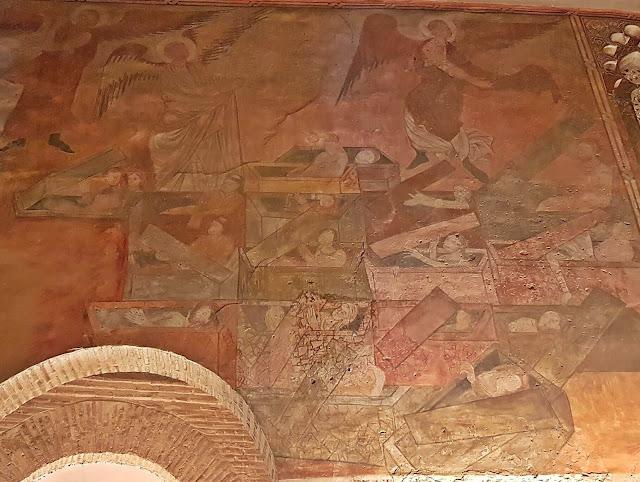 Fresco de muertos vivientes en la Iglesia de San Román