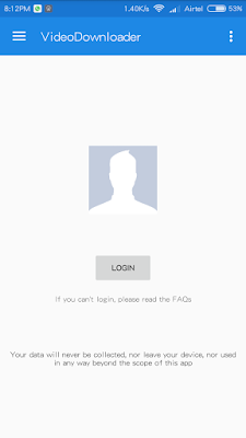 login with Facebook details
