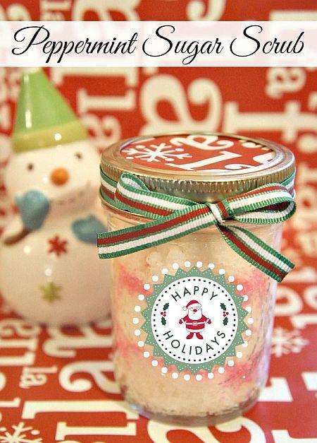 Christmas Gift in a jar - Peppermint Sugar Scrub