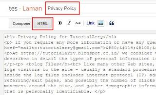 memasang kode ke blog