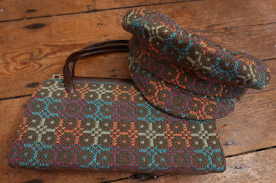 Welsh tapestry cap and bag