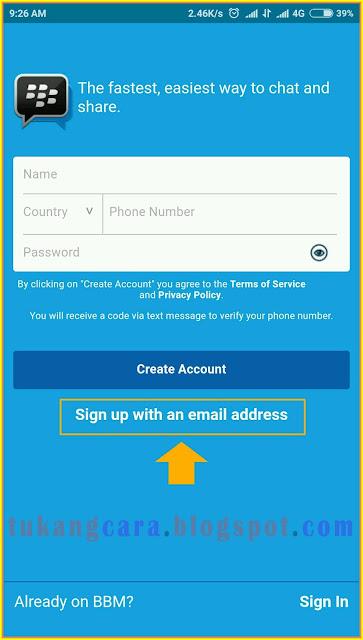 Cara Buat Akun BBM Di Android