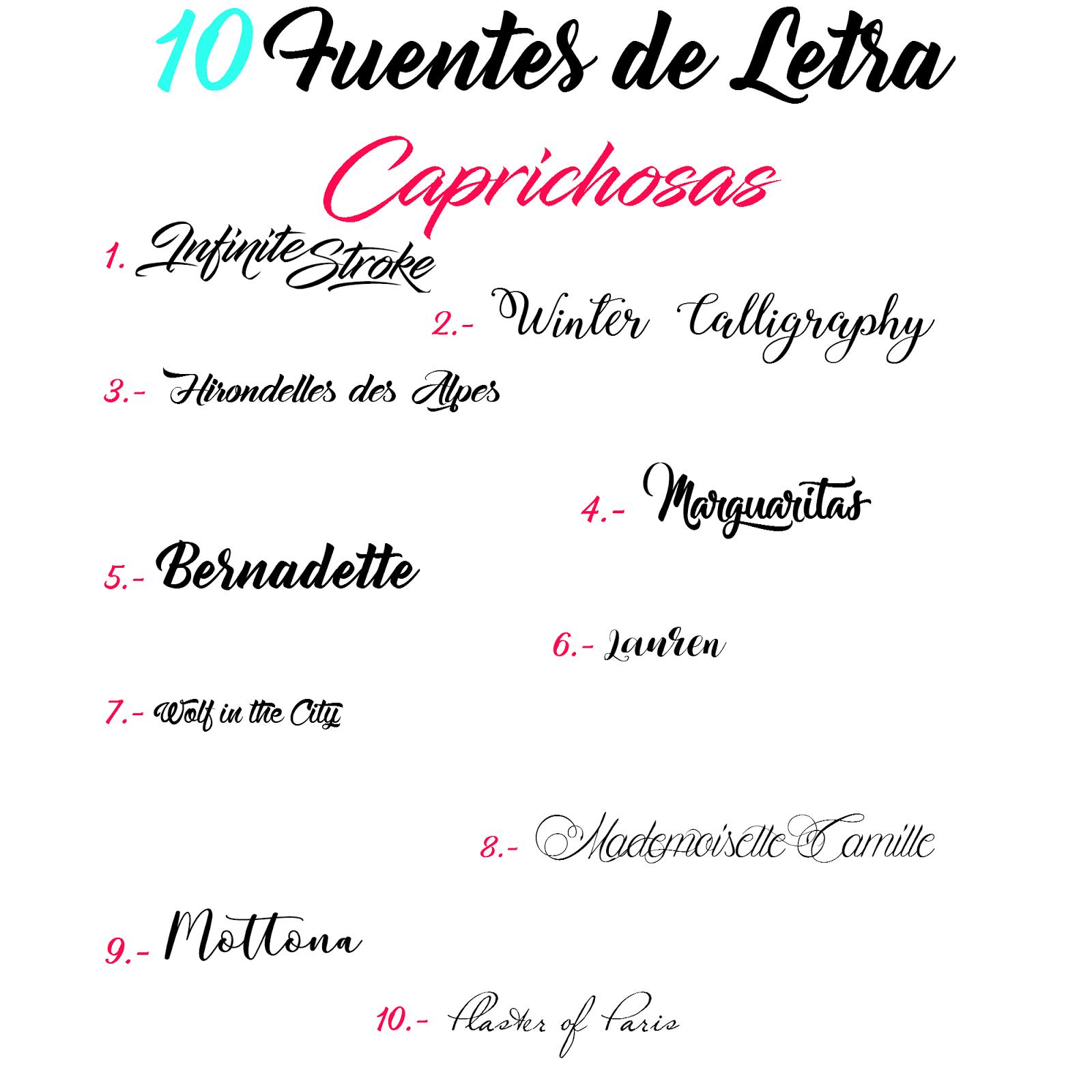 Pitis And Lilus 10 Tipos De Fuentes De Letra Tipografias
