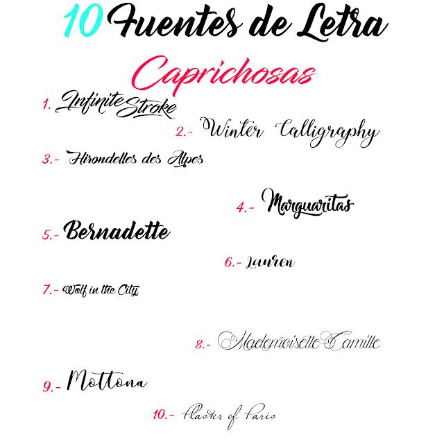 Fuentes de Letras Caprichosas
