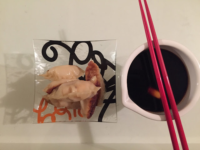 Make this quick and easy shrimp potsticker recipe any night of the week for a fabulous appetizer or entree. www.eatingfabulously.com