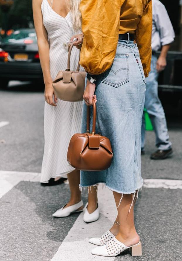 Street style falda vaquera