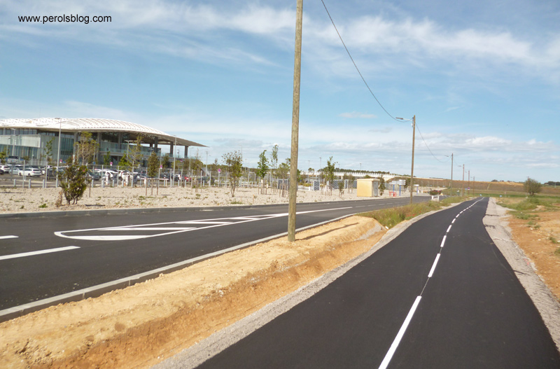 Pistes cyclables Gare TGV Sud Montpellier