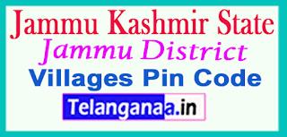 Jammu District Pin Codes in Jammu Kashmir