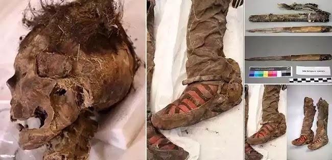 Η μούμια γυναίκας που πέθανε από χτύπημα στο κεφάλι και θάφτηκε με το άλογό της