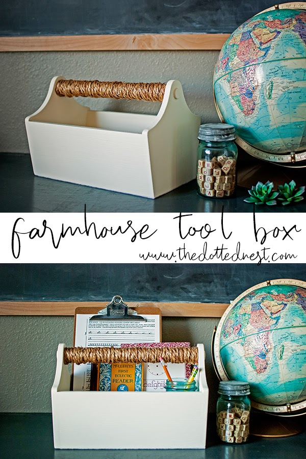 Farmhouse Tool Box Thrift Store Makeover