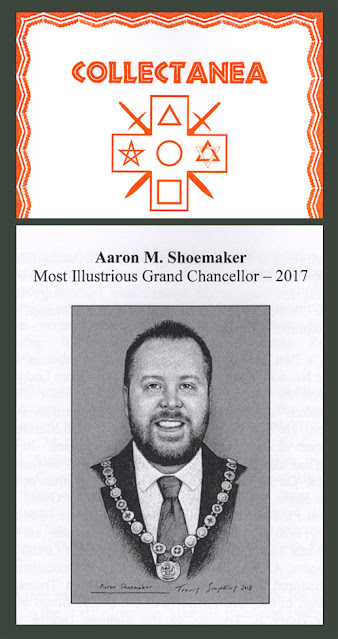 Grand College of Rites: Collectanea features portrait of Aaron Shoemaker by Travis Simpkins