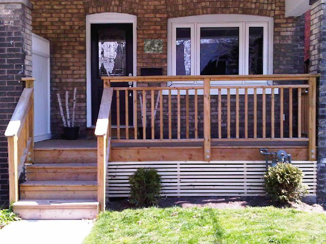 Loveshack Chic Diy Modernizing Porch Lattice