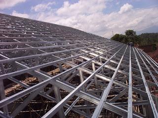 harga ongkos pasang atap baja ringan rangka dan gypsum board