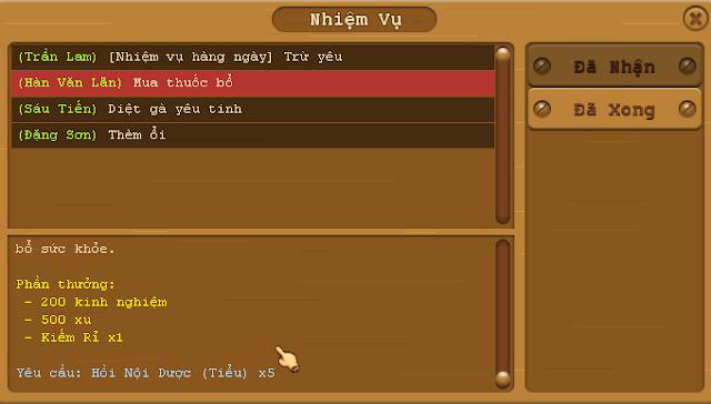 Patch nhỏ cho phiên bản 1.0.16.6