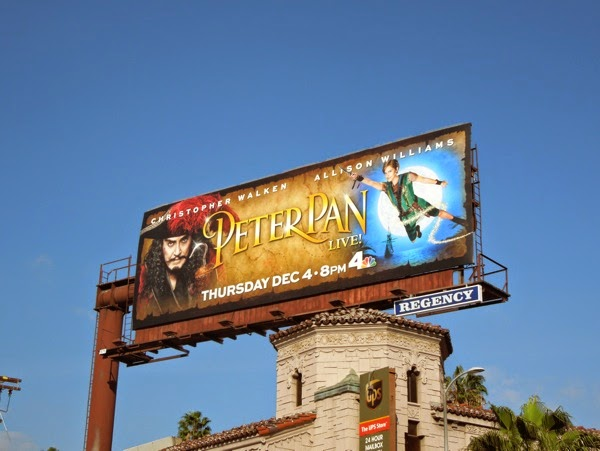 2014 Peter Pan Live billboard