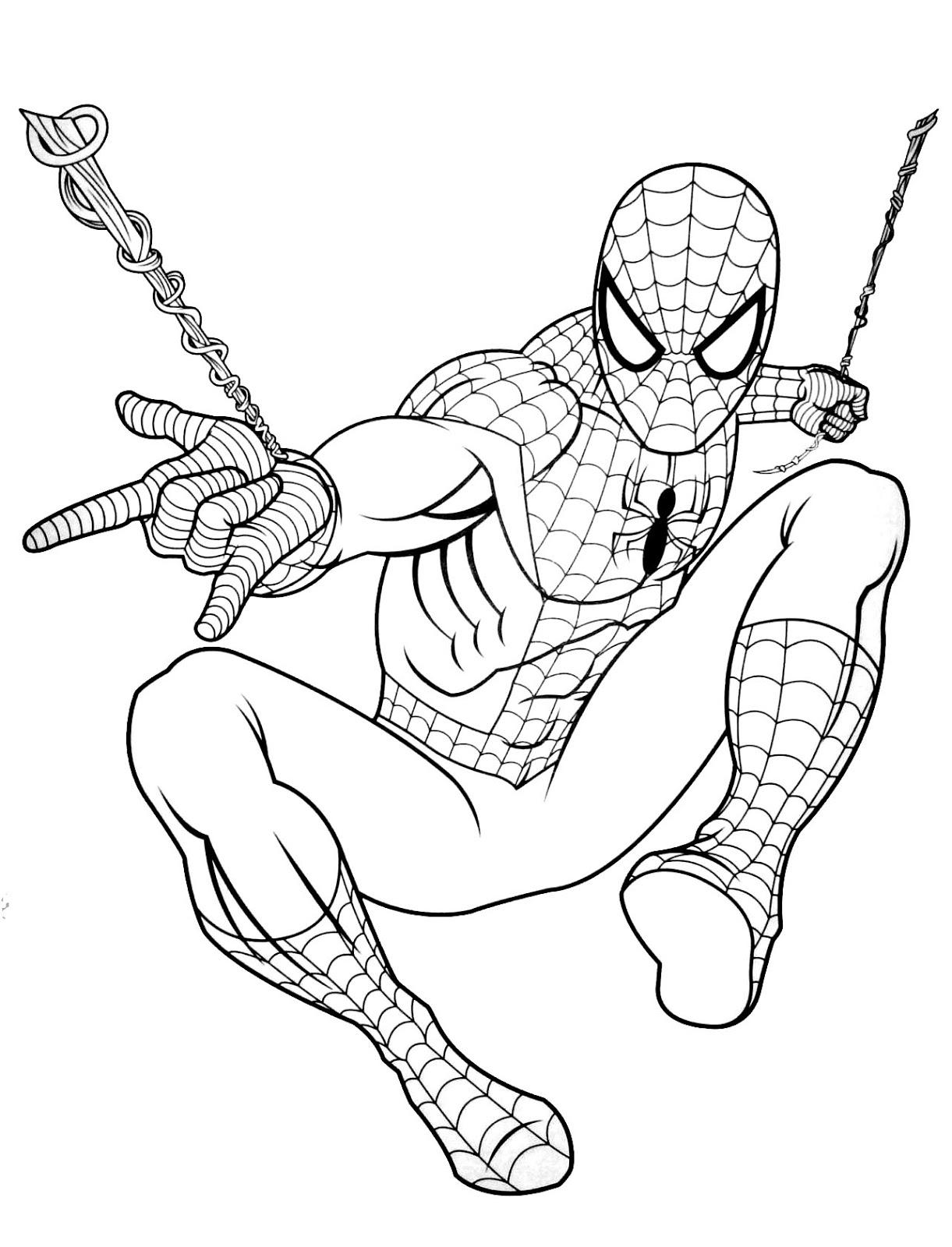 Tranh tô màu người nhện 02