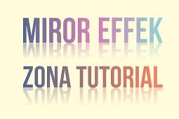 Tutorial Membuat Effek Mirror pada Tulisan dengan CorelDraw X7