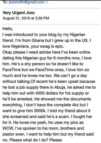 Am I about to get scammed or is this true love? - Ghanaian girl asks