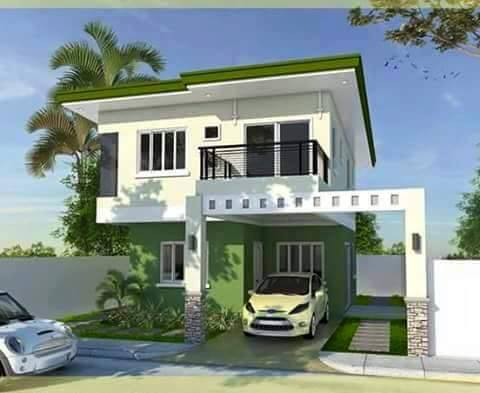 Contemporary house designs 2016 rendition bahay ofw for 3 storey terrace house design