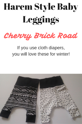 Use cloth diapers? You'll LOVE these harem style leggings for winter