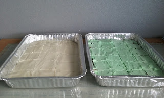 Fudge Mint Brownies and Cherry Almond Sheet Cake