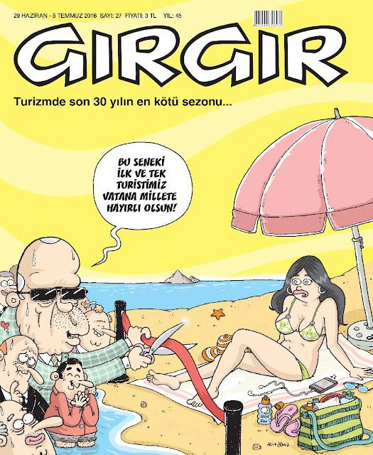 Gırgır Dergisi - 29 Haziran - 5 Temmuz 2016 Kapak Karikatürü