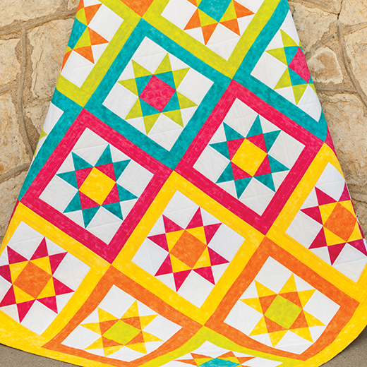 Vibrant Ohio Star Quilt free Pattern