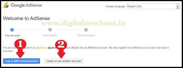 log in your current account
