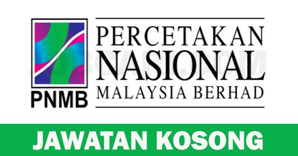 IKLAN JAWATAN DI PERCETAKAN NASIONAL MALAYSIA BERHAD
