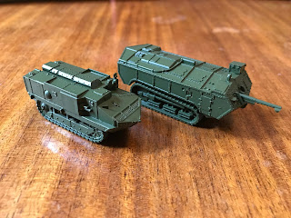 French tank models for the Great War boardgame