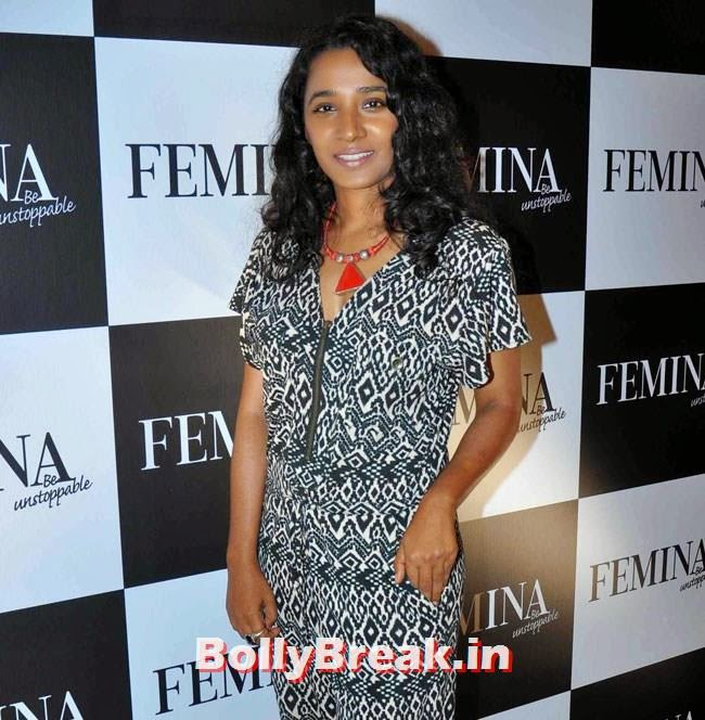 Tanishta Chatterjee, Huma Qureshi Pics in Red Top, White Skirt for Femina Magazine Launch