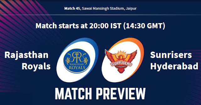 VIVO IPL 2019 Match 45 RR vs SRH Match Preview, Head to Head and Trivia