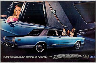 Propaganda Ford LTD - Landau - 1970, Ford-Willys anos 70, década de 70, Ford, Oswaldo Hernandez, década de 70, carros anos 70,