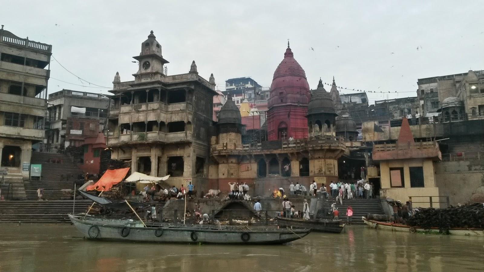 varanasi india hindistan ghat manikarnika