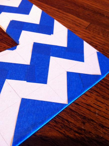 taped chevron stripes