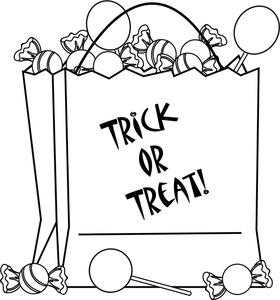 Fichas Infantiles: Trick or treat dibujo halloween