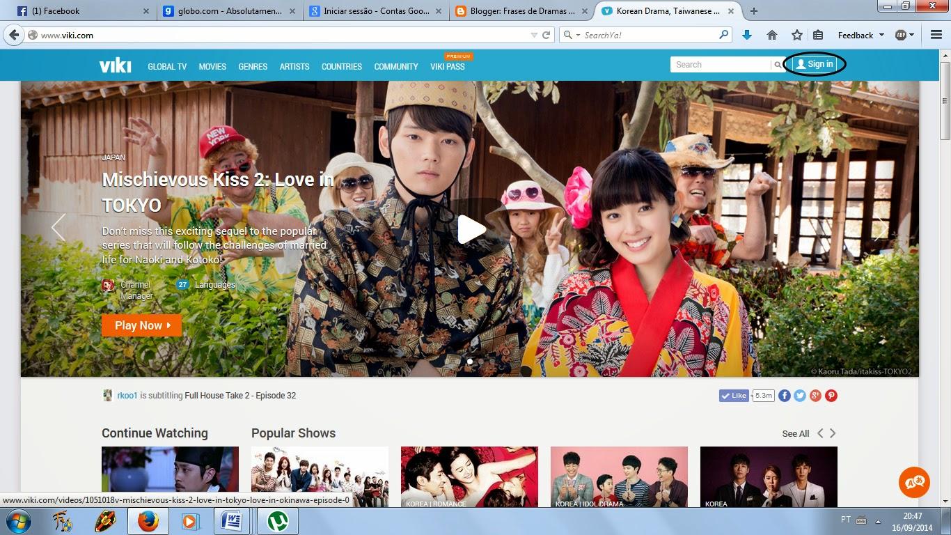Frases de Dramas e Filmes Asiáticos: Tutorial - Usando o Viki