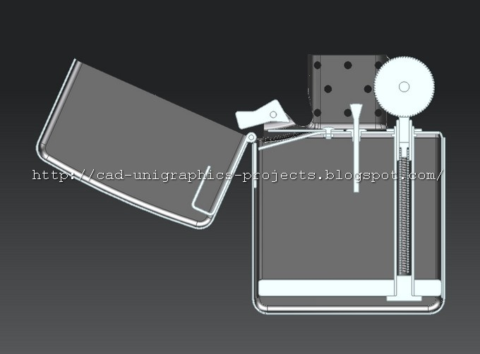 old version with  cam  that is not shaped to fully close the lighter & CAD designs by Ivan: Zippo lighter 3D model