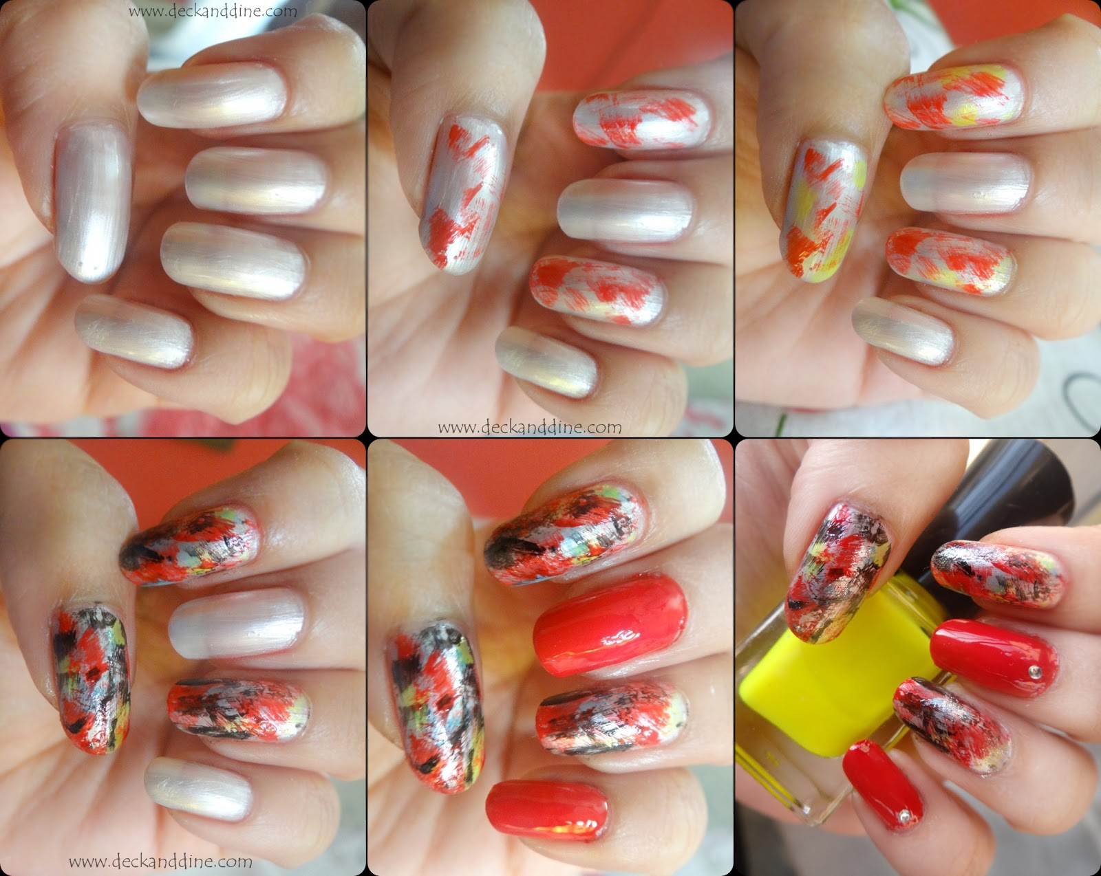Dry Brush Nail Art Tutorial With Step By Step Pictures Deck And Dine