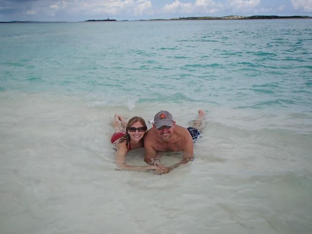 Susan and Ron at sandbar