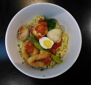 Spicy Quails Egg and Calamary Almond Flitters Bakmi Mewah