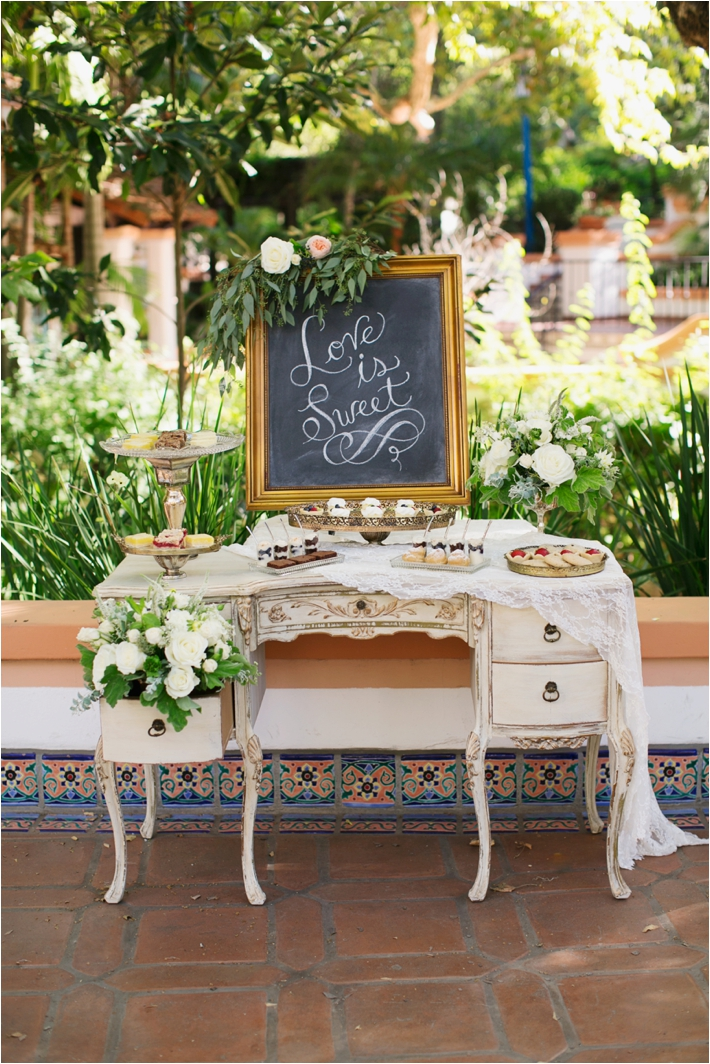 Rancho Las Lomas Wedding Inspiration | Dessert Table | Damaris Mia Photography