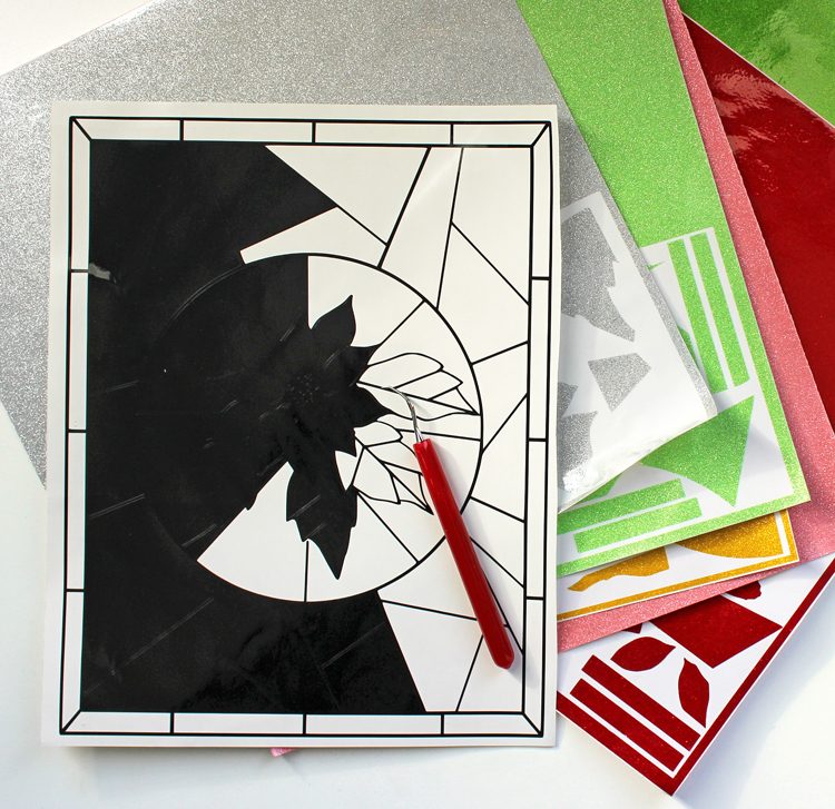 Silhouette project ideas. Make a stained glass window!