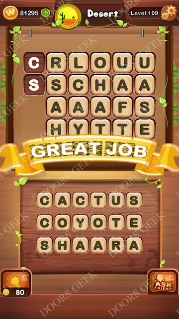 Word Bright Level 109 Answers, Cheats, Solutions, Walkthrough for android, iphone, ipad and ipod