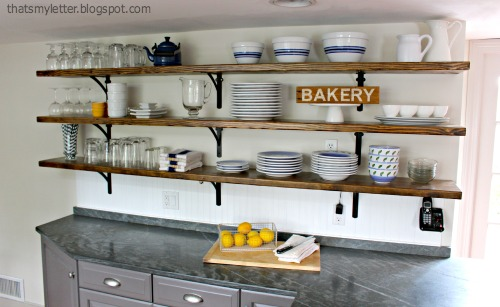 Kitchen cabinet finish is sticky - That S My Letter Farmhouse Style Kitchen Makeover