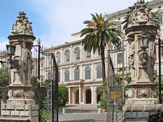 The Palazzo Barberini was designed by Maderno on  behalf of the the family of Pope Urban VIII