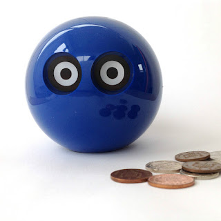 Modernist Space Age Plastic Owl Money Box Coin Bank Mid Century Design Midshires