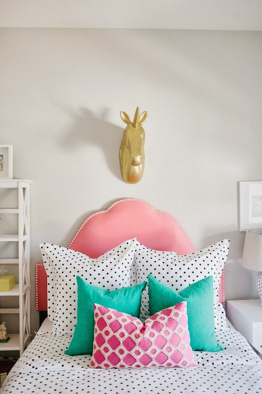 bright and colorful girls bedroom makeover from 6th street design school