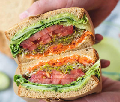 Green Goddess Veggie Sandwich #vegan