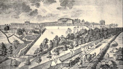 Prior Park, Bath  from The life and times of Ralph Allen of Prior Park, Bath by REM Peach (1895)